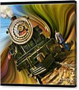 Historical Niles Southern Pacific 2472 Steam Engine 1921  Canvas Print