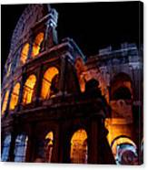 Historical Shapes In The Night Canvas Print