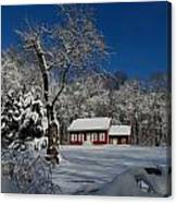 Historical Society House In The Snow Canvas Print