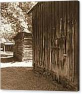 Historical Tobacco Barns Nc Usa Canvas Print