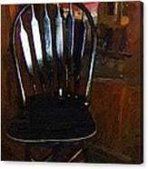 Hitchcock Chair In The Corner Canvas Print
