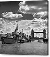 Hms Belfast London Canvas Print