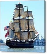 Hms Bounty Ahoy Canvas Print