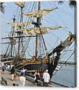 Hms Bounty Newburyport Canvas Print