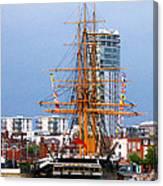 Hms Warrior Portsmouth Canvas Print