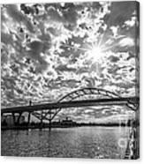 Hoan Bridge Peak Thru Canvas Print