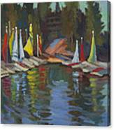 Hobie Cats At Lake Arrowhead Canvas Print