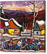 Hockey 4 Canvas Print