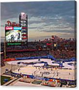 Hockey At The Ballpark Canvas Print