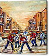 Hockey Daze Canvas Print