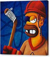 Hockey Homer Canvas Print