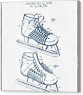 297f628dc7862 Hockey Shoe Patent Drawing From 1935- Blue Ink by Aged Pixel