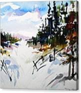Hockley Valley Snows Canvas Print