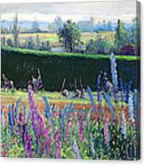 Hoeing Against The Hedge Canvas Print