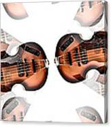 Hofner Bass Abstract Canvas Print