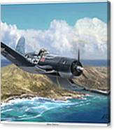 Hog Driver Vf 17 Jolly Rogers Top Ace Ike Kepford Canvas Print