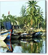 Hoi An Fishing Boats 01 Canvas Print
