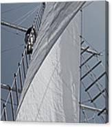 Hoisting The Mainsails Canvas Print
