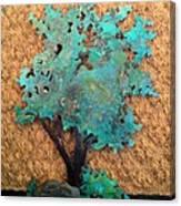 Hokkidachi Copper Bonsai Canvas Print