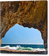 Hole In The Wall - Natural Tunnel In Santa Cruz Canvas Print