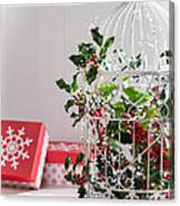 Holiday Birdcage Canvas Print
