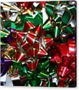 Holiday Bows Canvas Print