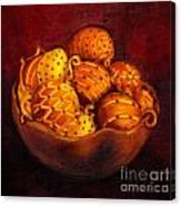 Holiday Citrus Bowl  Canvas Print