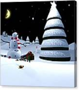 Holiday Falling Star Canvas Print
