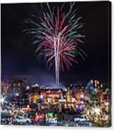 Holiday Fireworks Canvas Print