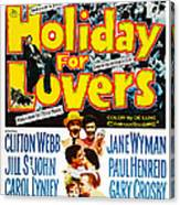 Holiday For Lovers, Us Poster Art Canvas Print