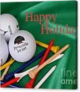 Holiday Golf Canvas Print