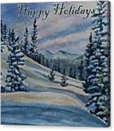 Happy Holidays - Winter Landscape Canvas Print