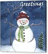 Holiday Greetings Canvas Print