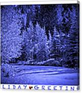 Holiday Greetings - Vail - Colorado Canvas Print