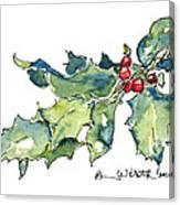 Holiday Holly Canvas Print