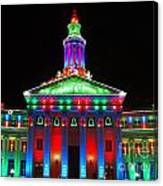 Holiday Lights 2012 Denver City And County Building G1 Canvas Print