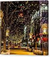 Holiday Lights In Denver Colorado Canvas Print