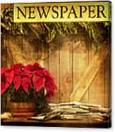 Holiday News Canvas Print
