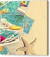 Holiday Postcards Canvas Print