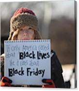 Holiday Shopping Begins In Ferguson As Protests Continue Canvas Print