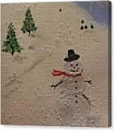 Holiday Snowman Canvas Print