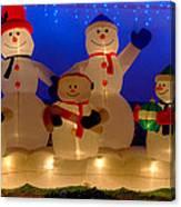 Holiday Snowmen 2 Canvas Print