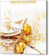 Holiday Table Setting Canvas Print