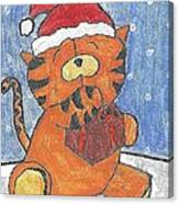 Holiday Tiger Canvas Print