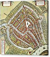 Holland: Gouda Plan, 1649 Canvas Print