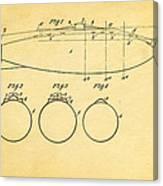 Holland Submarine Patent  Art 1902 Canvas Print