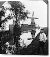 Holland Windmill, C1906 Canvas Print