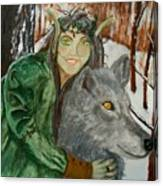 Holly Queen Canvas Print