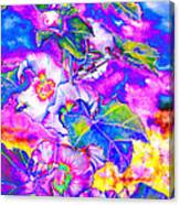 Hollyhock Solar Canvas Print