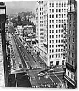 Hollywood And Vine In La Canvas Print